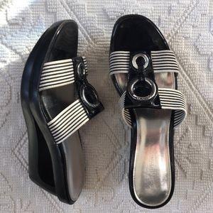 "Calvin Klein ""Yessica"" Wedge Sandal Sz 8 1/2 M"